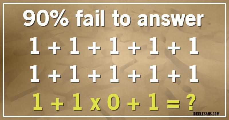 90 Fail To Answer 1 1 1 1 1 1 1 1 1 1 1 1 X 0